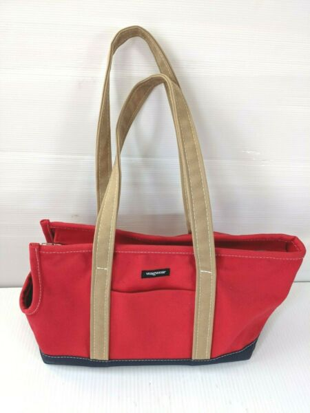 Wagwear Red Carpenter Carrier Tote Dog Bag $85.99