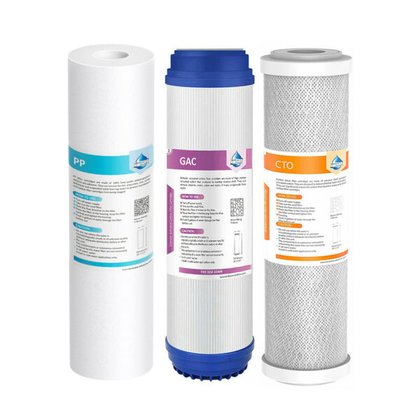 3 Stage Sediment GAC Carbon Block Water Filter Set For RO Reverse Osmosis System $20.99