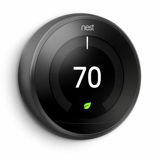 Nest T3016US 3rd Generation Learning Programmable Thermostat BLACK FOR PARTS $60.00