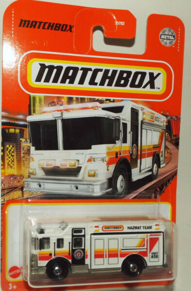 Brand New Matchbox Die Cast Fire Hazmat Truck marked Matchbox County