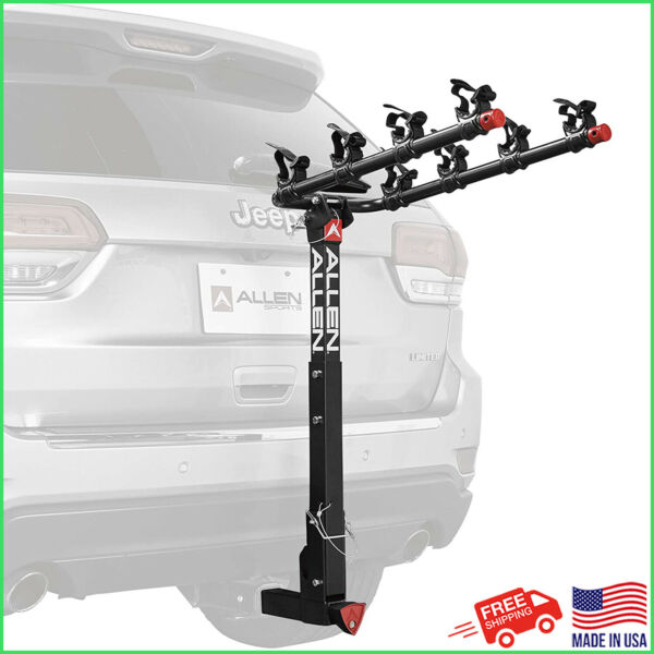 Allen Sports Deluxe Locking Quick Install 4 Bicycle Hitch Mounted Car Bike Rack $199.00