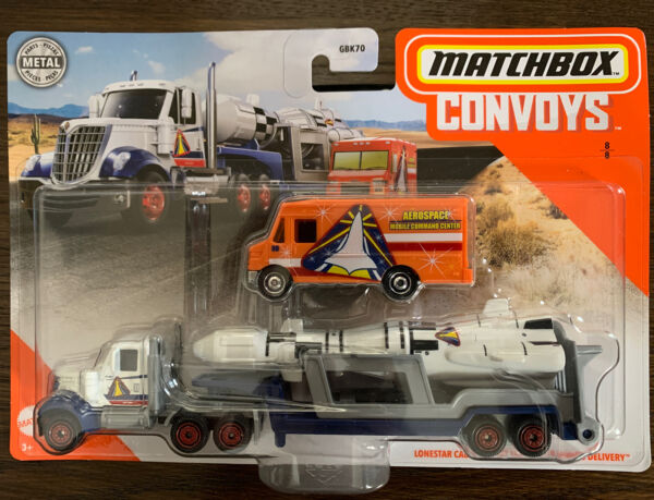 2020 Matchbox Convoys Lonestar Cab amp; Rocket Trailer and Express Delivery Truck. $8.00
