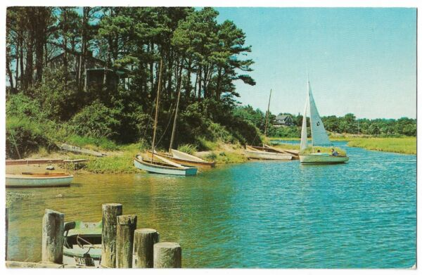 Cape Cod MA Pleasant Bay Inlet Between Chatham New Orleans Postcard