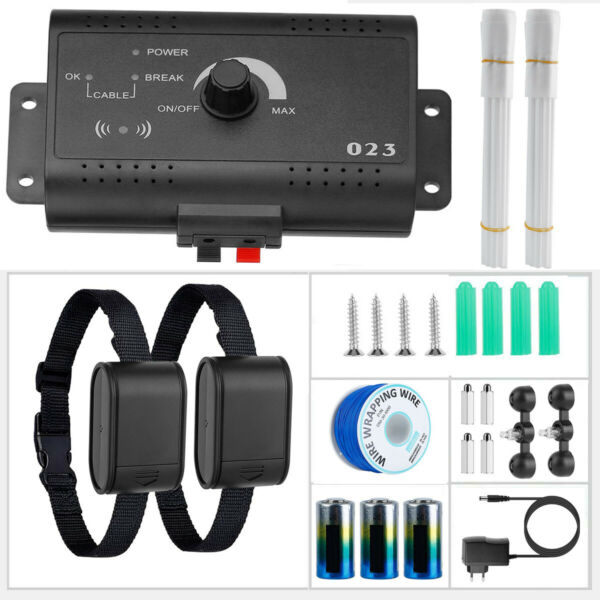 Wireless Electric Dog Fence For 2 Dog Containment System Shock Collar Waterproof