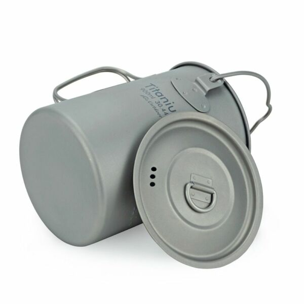 Camping Hanging Pot Cookware Outdoor Fire Cooking Picnic Portable Water Cup Mug
