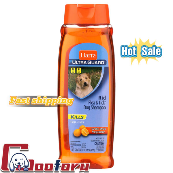 🐶Hartz🐶UltraGuard Citrus Flea and Tick Dog Shampoo 18 Fl Oz $7.77