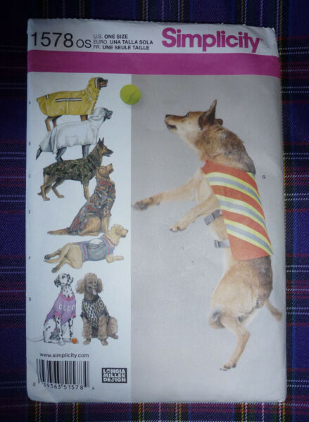 NEW SIMPLICITY PATTERN 1578 *DOG CLOTHES* SIZE LARGE $5.99