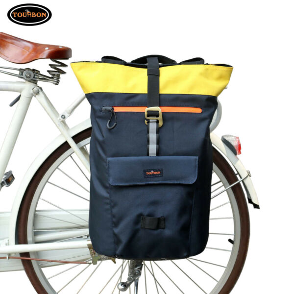 Tourbon Bike Pannier Bicycle Rear Bag Cycling Backpack Travel Large Capacity NEW $52.43