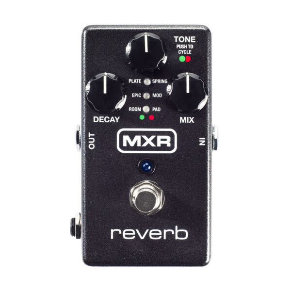 Used MXR M300 Reverb Guitar Effects Pedal w Power Supply