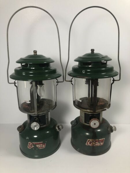 Vintage Coleman Lantern Lot Of 2 Model #220H and #220J