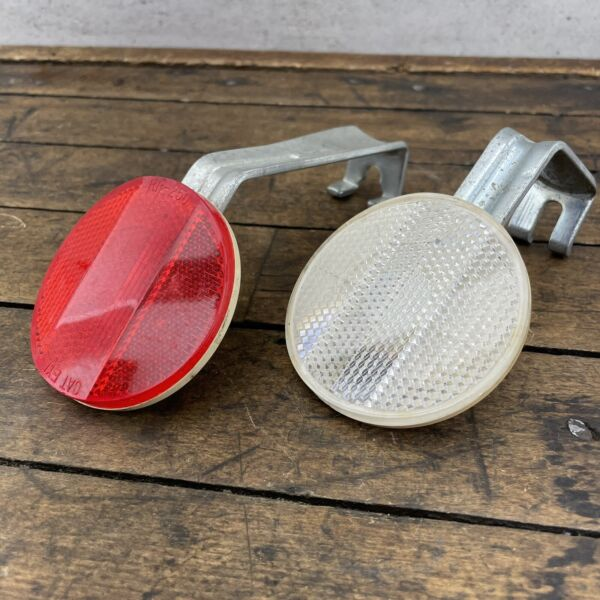 "CatEye RR 250 WZ Rear Bike Reflector Set 2.5"" Vintage Schwinn Red Road BMX Pat.P $27.38"