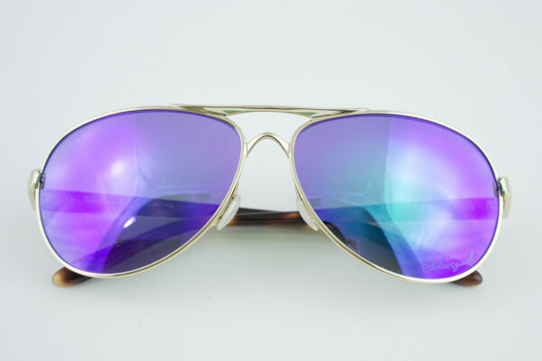 Oakley FEEDBACK Polished Gold Violet Iridium Polarized OO4079 18 AVIATOR 59 13 $62.00