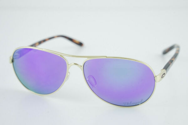 AVIATOR Oakley FEEDBACK Polished Gold Violet Iridium Polarized OO4079 18 59 13 $68.00