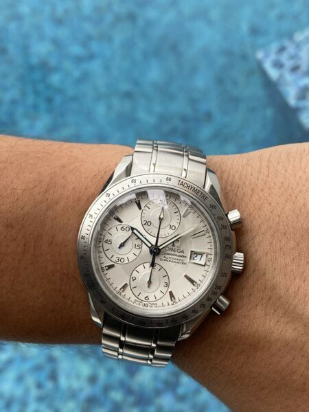 Omega Speedmaster White Dial 39mm Date Automatic Winding 3211.30 $2400.00