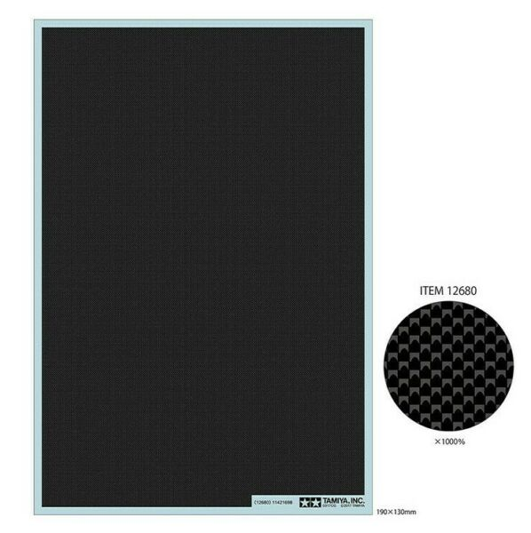 Tamiya Detail Up Part CARBON PATTERN DECAL PLAIN WEAVE EXTRA FINE 12680 $16.99