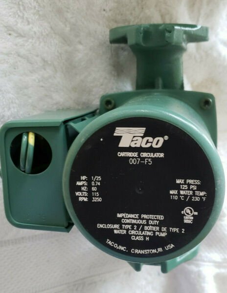 Pump Circulator Cast Iron Taco Quiet Hydronic Boiler Heating 1 25 HP $82.99