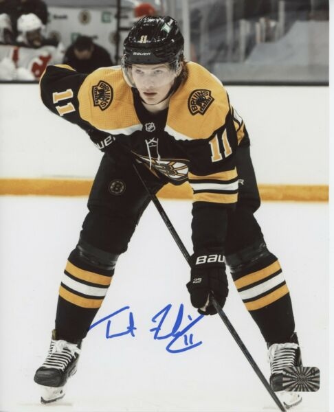 Trent Frederic Boston Bruins signed 8x10 Vertical Home Jersey $44.99
