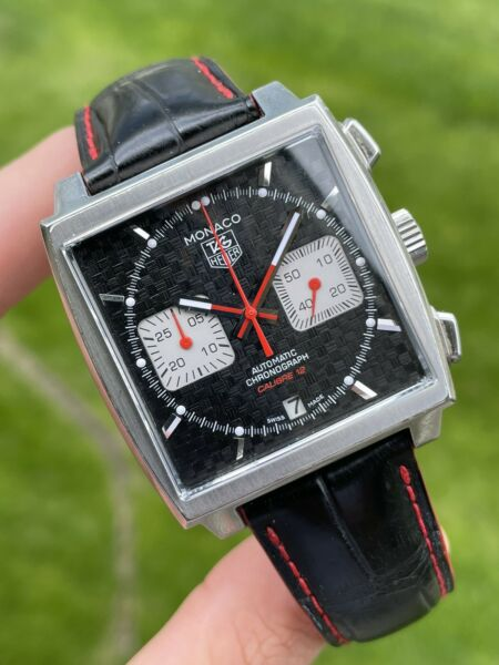 Tag Heuer Monaco Stainless Steel Automatic CAW2119 Limited Edition Carbon Watch $4500.00