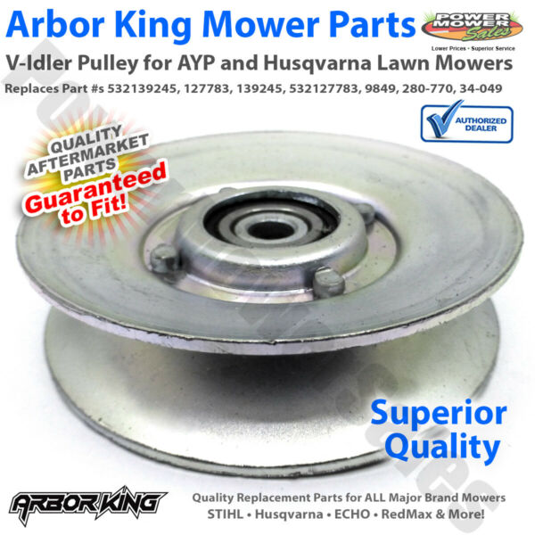 V Idler Pulley for AYP Husqvarna Mowers CT130 CTH130 GT160 532139245 532127783