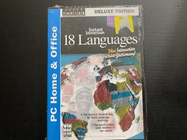 Instant Immersion 18 Languages Deluxe Edition CD ROM 2003 3 Discs New Sealed $19.99
