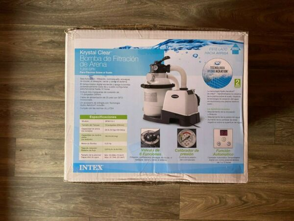 Intex Krystal Clear Sand Filter Pump for Above Ground Pools 10 inch 110 120V $339.99