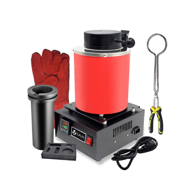 3KG Electric Melting Furnace 1100℃ for Metals Gold Silver Smelter With a Mold $229.00