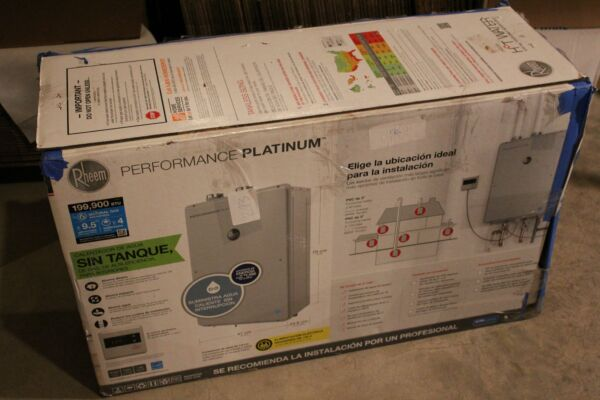 Rheem ECOH200DVLN 2 Natural Gas Outdoor Tankless Water Heater 9.5GPM Platinum $900.00
