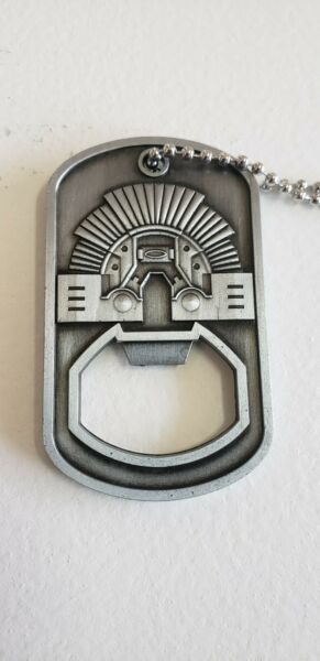 Oakley Metal Dog Tag Bottle Opener With Chain Rare New Free Shipping $23.99
