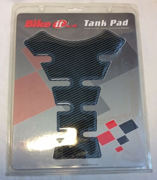 """Motorcycle """"Carbon Spine"""" Tank Pad By Bike It **Brand New** GBP 2.49"""