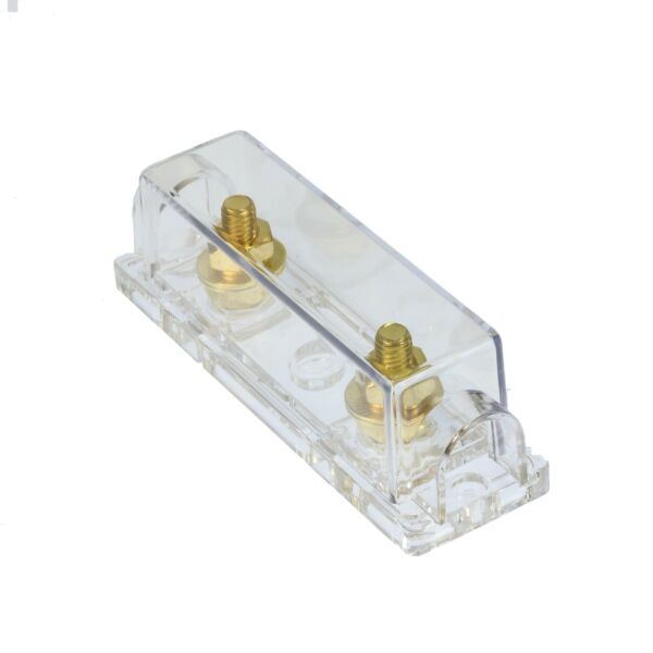 ANL Fuse Holder VOODOO Gold 2 0 1 0 4 8 Ring Terminals required GA Inline $8.49