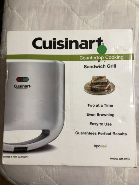 Cuisinart Grill Sandwich Maker Toaster Electric Cheese French Toast