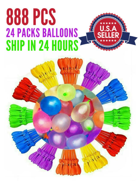 888PCS Instant Water Balloons Self Sealing Pre Tied Bunch O Balloons Style NEW $23.99