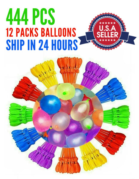 444PCS Instant Water Balloons Self Sealing Pre Tied Bunch O Balloons Style NEW $13.59