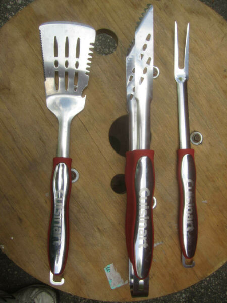 Cuisinart CGS 134 BBQ Grilling Tool Set Red 3 Piece
