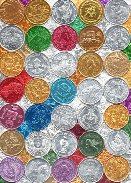 Collection of Mardi Gras Doubloons 110 Different Token Lot Nice Selection $16.95