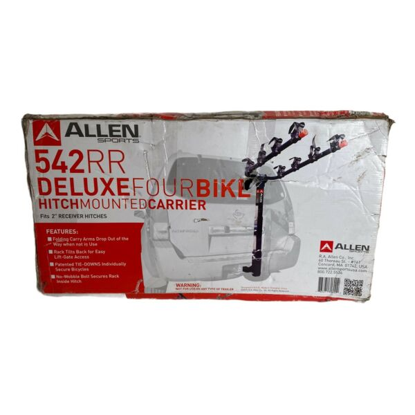 Allen Sports Deluxe 4 Bicycle Hitch Mounted Bike Rack Carrier 542RR $83.00