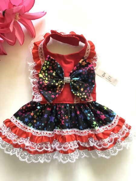 4th Of July Doggie Dress Handmade Dog Clothes M $18.50