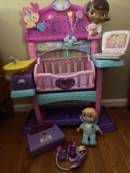 Lot of Just Play Doc McStuffins Baby All in One Nursery Lambie