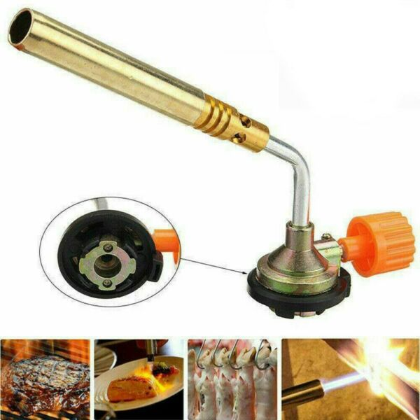 Butane Gas Blowing Torch Flamethrower Burner Home Camping Welding Barbecue Tool $9.09