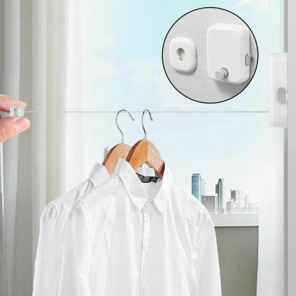 Retractable Wall mounted indoor Outdoor Balcony Invisible Drying Lines $19.31