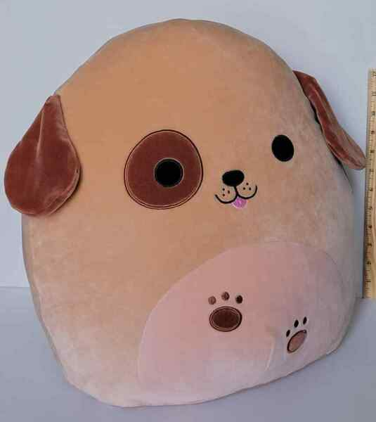 Squishmallow SPECIAL EDITION 16quot; Doug the Dog 🐾 Soft Tan Plush BNWT Free Ship $77.77