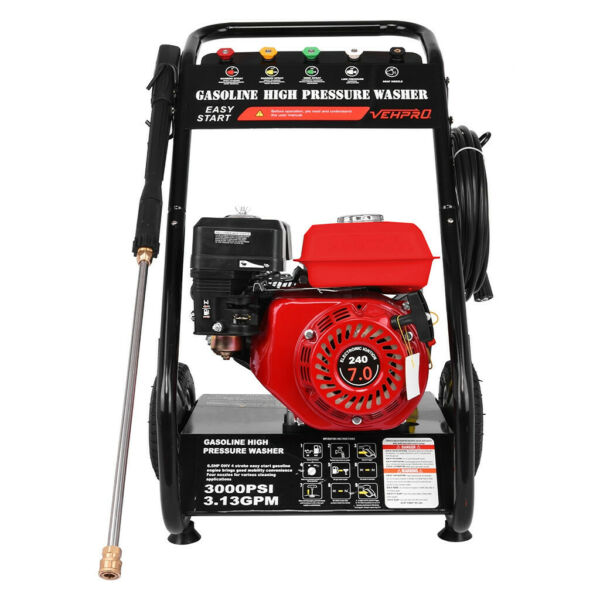 3000PSI 7HP Gas Petrol Gas Cold Water Pressure Washer With Spray Gun $272.99