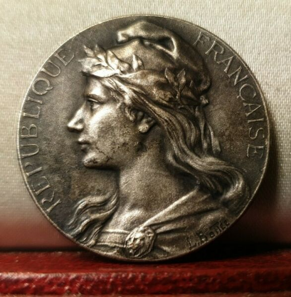 Rare french 28mm bronze by Bottee medal Marianne Woman France