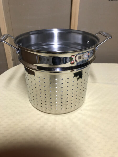 Cuisinart Stainless Steel Pasta Insert Strainer Steamer 12 qt. New Without Box