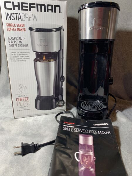 Chefman Coffee Maker K cup Instabrew Brewer Tea Coffee Use Grounds Or K cups
