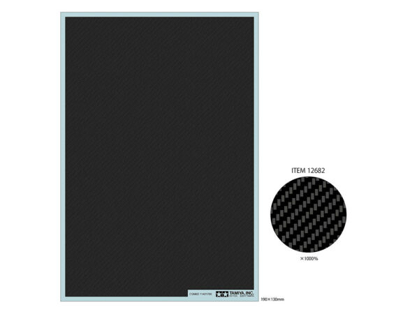 Tamiya Detail Up Part CARBON PATTERN DECAL TWILL WEAVE EXTRA FINE 12682 $16.99