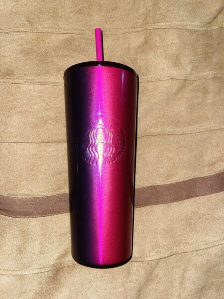 Starbucks Stainless Steel Venti Tumbler Ombre Pink Purple Plum Red Berry 2020