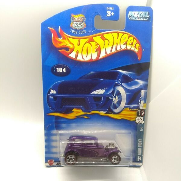 2002 Hot Wheels #x27;32 Ford Vicky Purple #104 Red Lines
