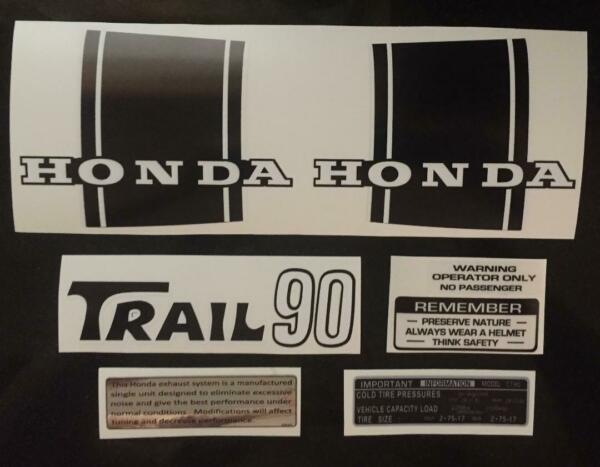 Honda CT90 1970 73 Trail 90 Decal Set Trail 90 Stickers Graphics $29.99