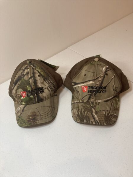Tractor Supply Co Camouflage Adjustable Strap Lot Of 2 Hats quot;New With Tagquot; $9.99